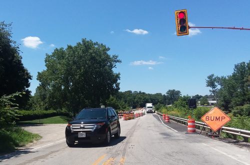 July heat wave brings road construction to Woodford