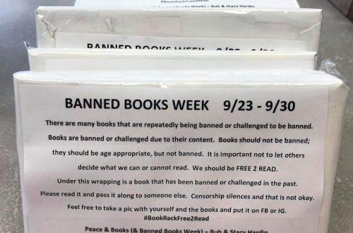 Scavenger hunt for hidden volumes raises awareness during Banned Books Week
