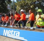 Officials, community kick off work on new Auburn Park Metra Station