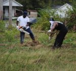 SIUE and Washington Park residents work to build a community garden