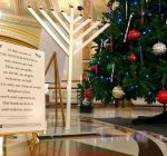 Hanukkah menorah added to Capitol rotunda's holiday display