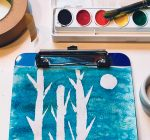 Use salt to paint a wintry watercolor
