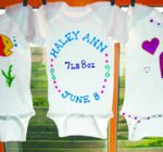 Welcome new baby with wearable art