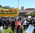 Protesters demand change