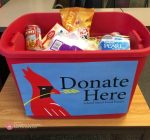 ISU pantry holding drive-thru food collection