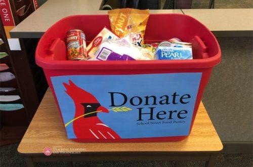 ISU pantry holding drive-thru food collection