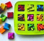 Turn old crayons into new shapes