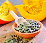 Toast pumpkin seeds for nutritious treat