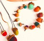 CREATIVE FAMILY FUN: Craft-felted autumn acorns
