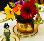 Try a gilded pumpkin vase for Thanksgiving