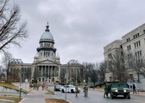 Heightened security measures remain in place at Illinois Capitol