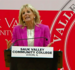 First lady talks higher education investments in Illinois visit