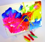 CREATIVE FAMILY FUN: Create abstract art with melted crayons