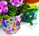 CREATIVE FAMILY FUN: Kids turn dull clay into fancy flowerpots