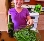 Make kale chips with kids