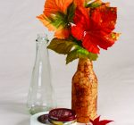 CREATIVE FAMILY FUN: Faux-leather vase shows off fall finds
