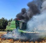 Combine fire puts things in whole new light for Normal farm